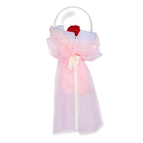 Further LED-Balloon Light Up Transparent Bobo Luftballons Rosa Blumenstrauß Bobo Ball Party und Hochzeitsballons ideal für die Dekoration Geburtstag Hochzeit (warmweiß) B
