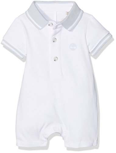 Timberland Baby - Jungen Latzhose COMBINAISON COURTE, Weiß (Blanc), 6-9 Monate (Herstellergröße: 06M)