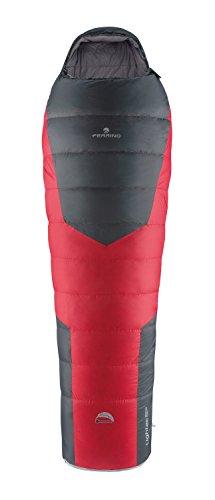 Ferrino SLEEPINGBAG LIGHTEC 850W Duvet Saco de Dormir Tiempo Libre y Senderismo, Adultos Unisex, Multicolor (Red/Grey), Talla Única
