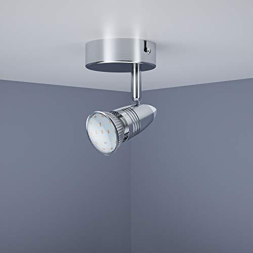 LED Deckenleuchte/schwenkbare Deckenlampe inkl. 1 x 3W Leuchtmittel LED Lampe / 1 flammig / GU10 / Warmweiß / IP20 / Energieklasse A+LED Deckenspot