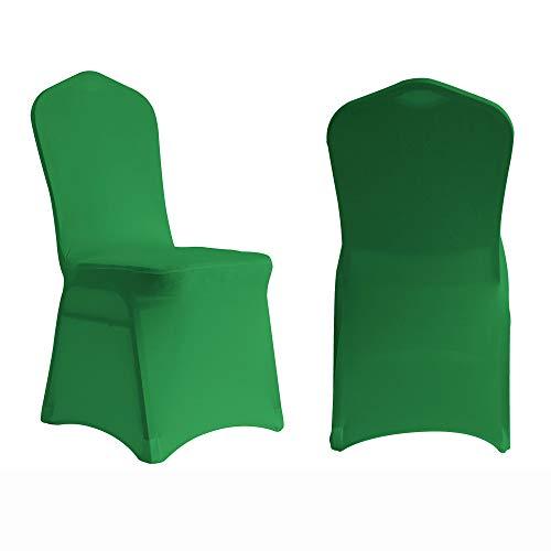 Manmengji 10 fundas elásticas para sillas de licra y licra, para bodas, banquetes y sillas de comedor