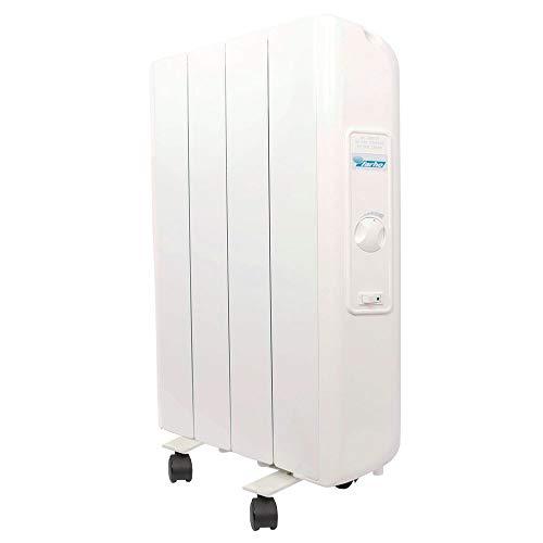 farho Radiatore Elettrico a Basso Consumo Eco R Ultra 660 Watts (4) · Termoarredo Elettrico con Cronotermostato Analogico · Ruote Incluse · Ideale per soggiorni Fino a 10 m² · 10 Anni Garanzia
