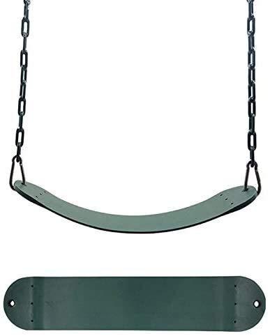 Turtle Story 25.59x5.51Inch Asiento de Columpio for niños de jardín de Infancia, for Trabajo Pesado 300 kg / 661LB Límite de Peso al Aire Libre oscilación del Patio Accesorios Verde JXNB