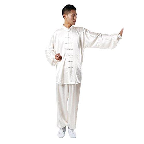 Andux Kampfsport Tai Chi Anzug Kung Fu Uniformen Unisex SS-TJF01 Weiß(XL) MEHRWEG
