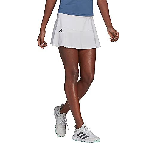 adidas T Match Skirt Gonna da Donna, Donna, Gonna, GH7552, Bianco/Nero, L