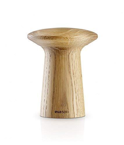 EVA SOLO 530577 Moulin à Poivre et sel en Bouleau réglable 11 cm, Bois, chêne, 16,4 x 10 x 7 cm
