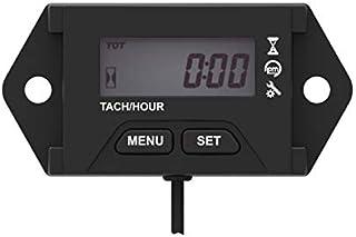 Jayron JR-HM059 cuentarrevoluciones Digital Tacómetro,Recordatorio de Mantenimiento, Recordatorio de RPM,para generador,cortacésped,Motocicletas,ATV,Motores Marinos,Tractores