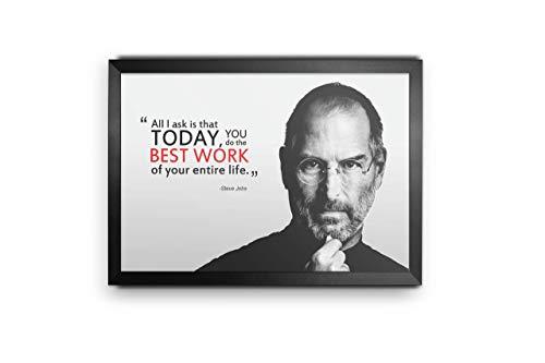 PRINTELLIGENT Paper Steve Jobs Quotes Photo Frame (Black_12 Inch X 18 Inch)