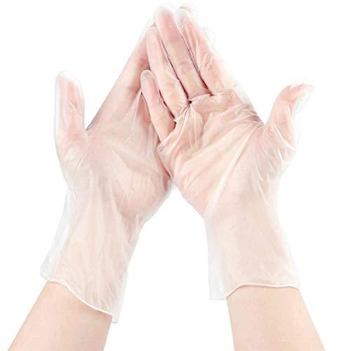 QQLOV Lot de 500 gants en vinyle sans poudre jetables multi-usages pour le nettoyage de la cuisine, de la cuisine, du magasin de beauté, du restaurant, de la manutention des aliments