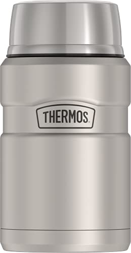 THERMOS Stainless King Vacuum-Insulated Food Jar, 24 Ounce, Matte Steel