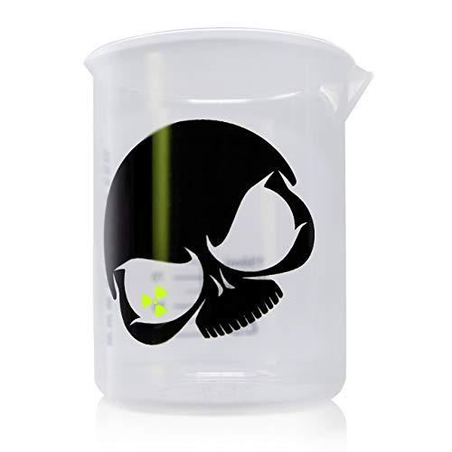Nuke Guys Griffin Messbecher: Messbecher Skull 150ml skaliert - transparenter Messbecher zur einfachen Dosierung von Flüssigkeiten Skull