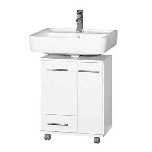 Schildmeyer 114669 Waschbeckenunterschrank, 50 x 63,5 x 32,5 cm, weiß