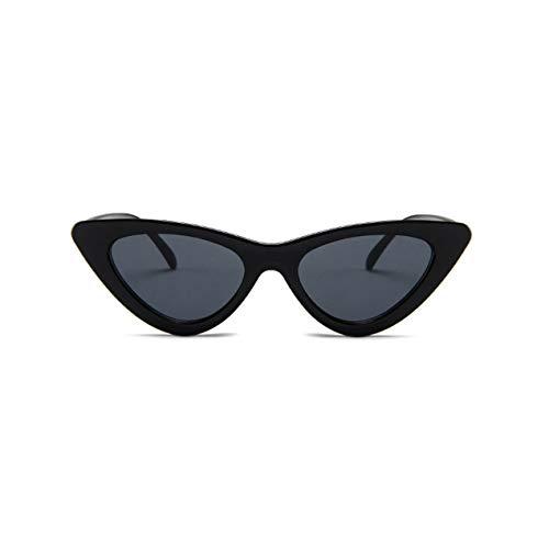 DBSUFV Lentes planas espejadas simples de todo fósforo Gafas de sol de mujer con montura metálica de moda callejera Gafas de sol polarizadas