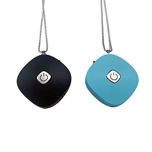 Nrpfell Paquete de 2 Collar Purificador de Aire Personal Usable, Generador de Iones Negativos Ionizador de Aire Fresco Portátil de Bajo Ruido