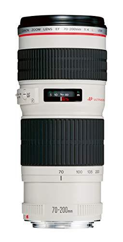 Canon Telezoomobjektiv EF 70-200mm F4L USM für EOS (67mm Filtergewinde, Spectra-Vergütung, Autofokus), hellgrau/schwarz