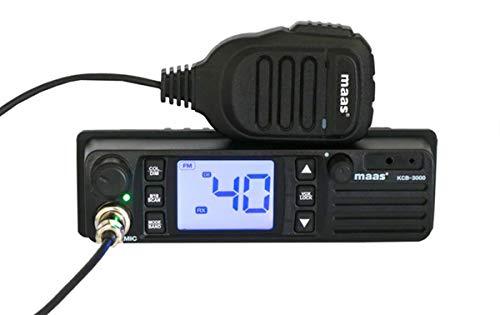 MAAS KCB3000 Emisora CB 27 MHz 400 Canales Am/FM Voltaje 12-24 voltios