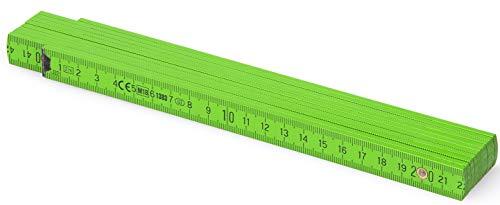Metrie™ BL52 Holz Zollstock/Zollstöcke  2m langer Gliedermaßstab, Maßstab Meterstab mit Duplex-Teilung - Dunkelgrün (PAN369)