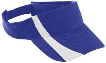Youth Adjustable Wicking Mesh Two-Color Visor - Purple