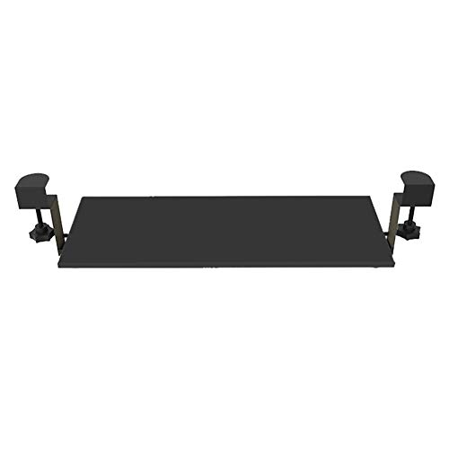 Extra Resistente Sujetador de Teclado y ratón bajo Escritorio Bandeja Deslizante cajón de Plataforma extraíble,Negro,como Muestra la Imagen