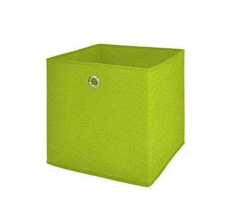 Möbel Akut Faltbox 4er Set in apfelgrün, Aufbewahrungsbox für Raumteiler oder Regale