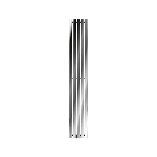 ECD Germany Radiador de Diseño Vertical Stella - 260 x 1800 mm - cromado - Radiadores de diseño para baño Calentador de toallas