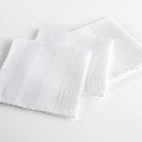 l'harmonie du décor 3 serviettes de table 40x40 cm smart blanc