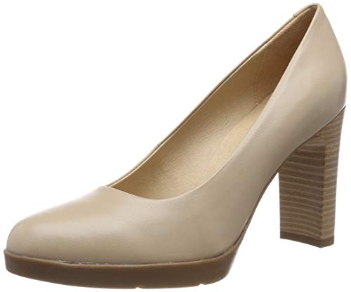 Geox D Annya High A, Zapatos Tacón Mujer, Beige Beige