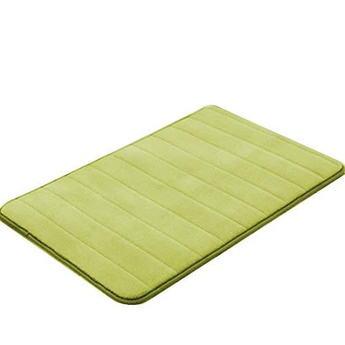 deurmatten binnen 40x60cm waterabsorptie vloerkleed badkamer mat schattige deurmat (Color : Green, Size : 40x60cm)