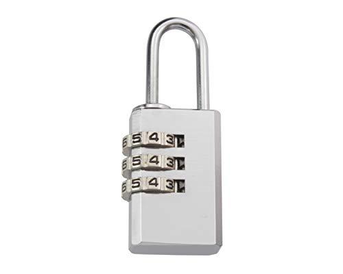 ハイロジック TQOOL ダイヤル錠 お好きな番号に変更できる 屋外でも使える 3段文字合わせ錠 21mm GS-811