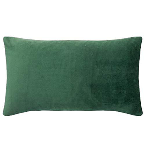 pad - Elegance - fluwelen kussens, sierkussens, kussenhoes - 35 x 60 cm - kleur: donkergroen, groen - zonder vulling