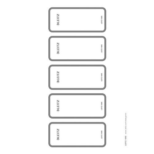 Leitz PC-beschriftbare Rückenschilder selbstklebend für Leitz Qualitäts-Ordner 180°, 50 Stück, 46 x 111 mm, Papier, 16920085
