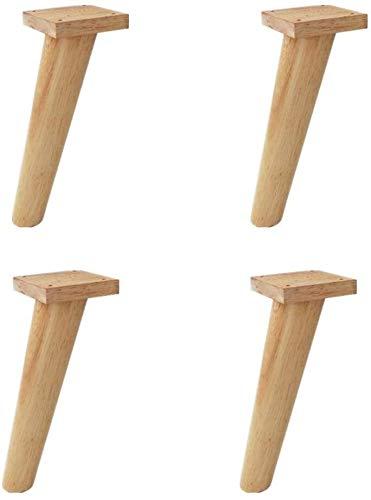 SHOP YJX Piernas 4pcs de mobiliario, sofás, Pies Oblicua Conetable Pierna, 4 Piezas, for mesas de café, Las piernas de Repuesto con Tornillos 27cm
