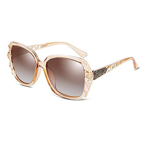 Occhiali da sole UV400 Occhiali da sole a forma di poligono femminile a bordo atipico Occhiali da vista a specchio Occhiali da sole (Colore : Gold)
