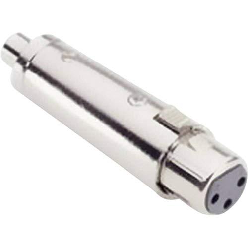Adam Hall audio-adapter [1x XLR-aansluiting - 1x cinch-aansluiting] zilver