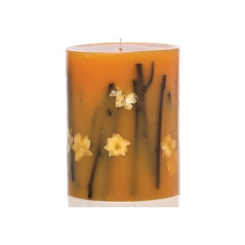 Rosy Rings Honey Tobacco Tall Round Scented Candles, 5'