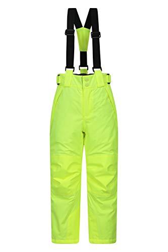 Mountain Warehouse Falcon Extreme Skihose für Kinder - Winterhose, Schneehose, wasserfeste Kinderhose, Schneegamaschen, Sicherheitstaschen- Für Skiurlaub Helles Gelb 9-10 Jahre