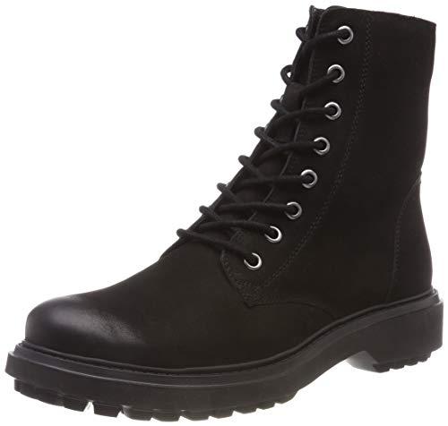 Geox Damen D ASHEELY H Biker Boots, Schwarz (Black C9999), 38 EU