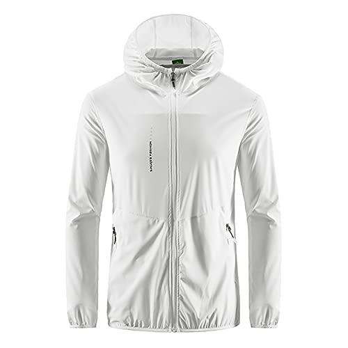 Senderismo impermeable chaqueta hombres camping lluvia abrigo secado rápido caza ropa anti, blanco, XXXXXL