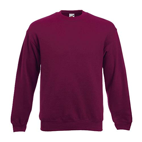 Fruit of the Loom - Set-In Sweatshirt - burgund - Größe: M