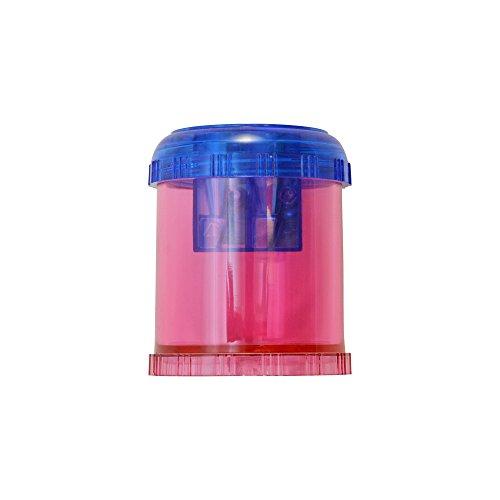 Westcott Plastic Manual Pencil and Crayon Sharpener, Assorted Colors (12202), single