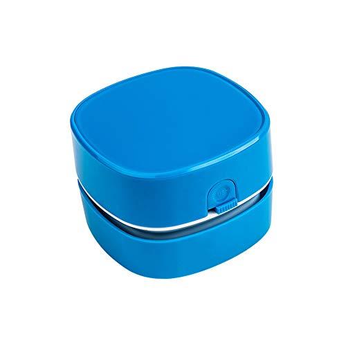 LG&S Mini Tischstaubsauger Elektrische Tragbare Tisch Kehrmaschine 360 ° Drehbares Design Für Tastatur, Büro, Zuhause, Sofa,Blau