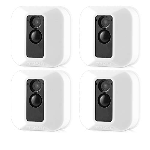 Silicone Covers Skins for Blink XT/XT2 Security Camera,Silicon Case for Blinks Home Security - Anti-Scretch Protective for Full Protection - Indoor Outdoor Best Home Accessories (4 Pack White)