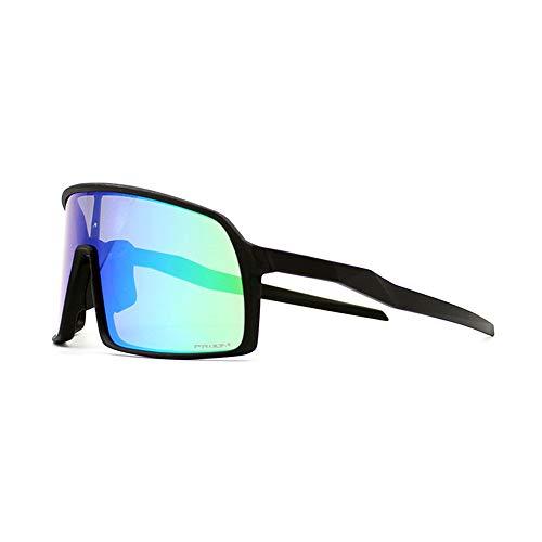 ZoliTime Gafas de ciclismo 2019 moda nuevos deportes a prueba de viento gafas de sol polarizadas de conductor Gafas de bicicleta BMX (Marco negro + lente verde)