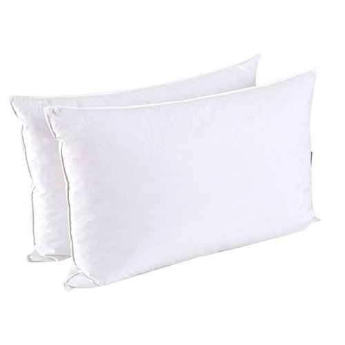 puredown Feather and Down Pillow, King Size, Set of 2, Duck Down