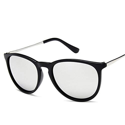 YUFUD Gafa de sol Gafas de sol Vintage Cat Eye Mujer Gafas De Sol Sun Rays Protection Gafas de sol espejadas Silver C