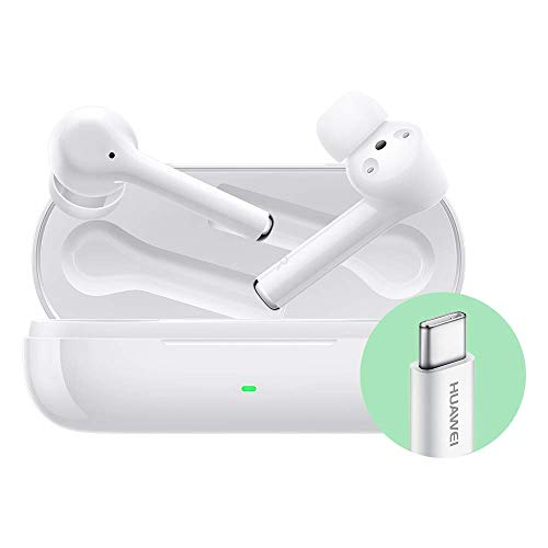 Huawei Freebuds3i Auricolari True Wireless In Ear con Cancellazione Intelligente del Rumore, con Adattatore Huawei AP52, Ceramic White