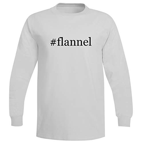 The Town Butler #Flannel - A Soft & Comfortable Hashtag Men's Long Sleeve T-Shirt, White, XX-Large