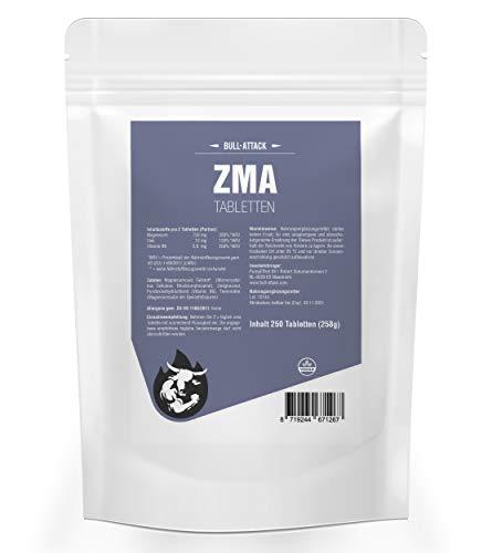 ZMA | 250 Tabletten Big Pack (Vegan) | Hochdosiert | Zink + Magnesium + Vitamin B6 | Unterstützt Muskelaufbau und Muskelfunktion | Premium Qualität hergestellt in Deutschland