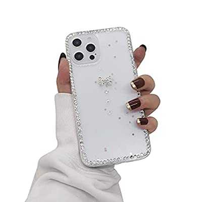 Case Compatible with iPhone 12 Pro Max Case for Women, Tecogue Clear Cute Elegant TPU Glitter Shockproof Case for iPhone 12 Pro Max,Sparkle Bling Shiny Slim Case Cover(6.7 inch)