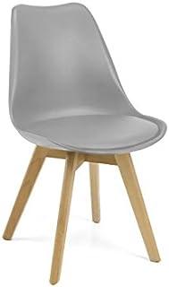 LIQUIDATODO ® - Set 4 sillas nordic modelo 89 moderna y barata de pp (polipropileno) + asiento pu (poliuretano-espuma)